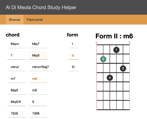 Guitar Chord Learning Application