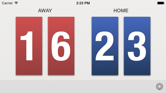 Volleyball Scoreboard Screenshot